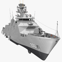 sigma class indonesian frigate 3D model