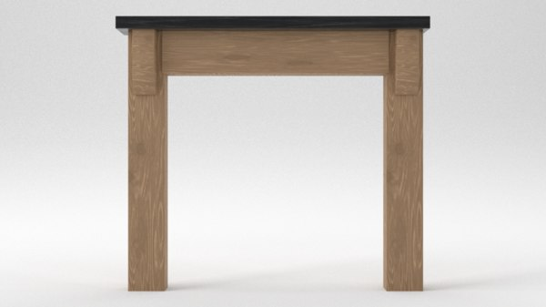 simple fireplace 3D model