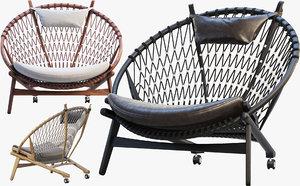 pp130 circle chair 3 3D model