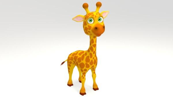 3D giraffe cartoon