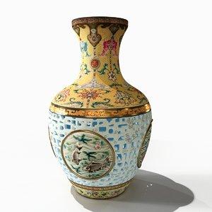 3D model qing dynasty vase
