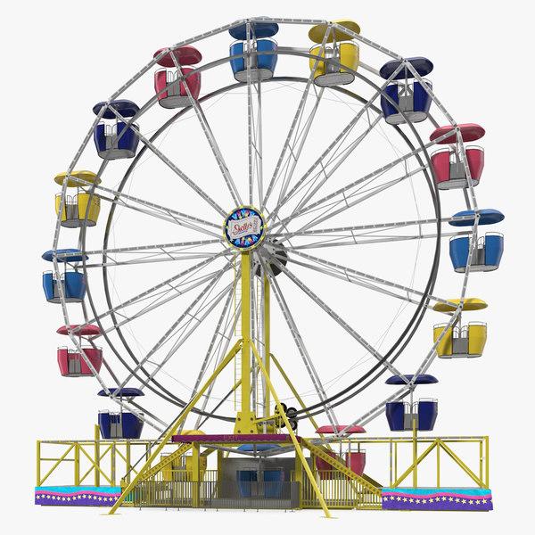 amusement park ferris wheel 3D model
