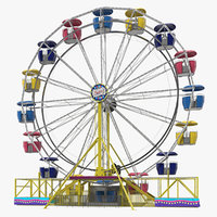 amusement park ferris wheel 3D model