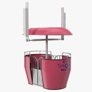 3D model ferris wheel cabin