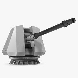 oto melara 76mm gun 3D model