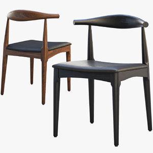 ch20 elbow chair 2 3D model