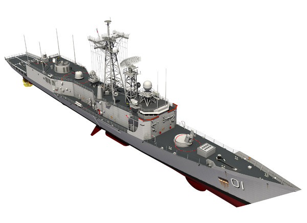 australian perry class frigate 3D model