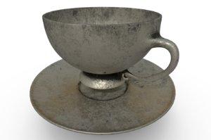 cup saucer 3D