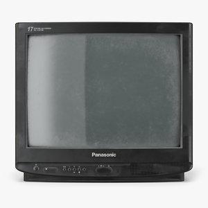 3D old tv panasonic tc21 model