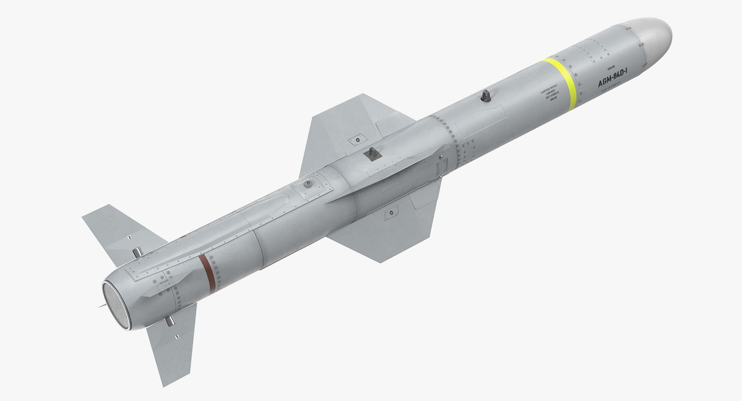 3D agm 84 harpoon missile