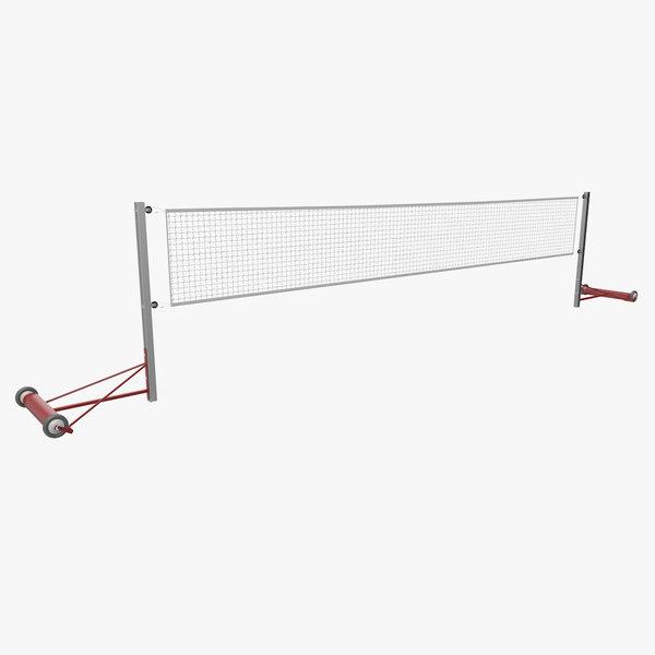 3D badminton net model