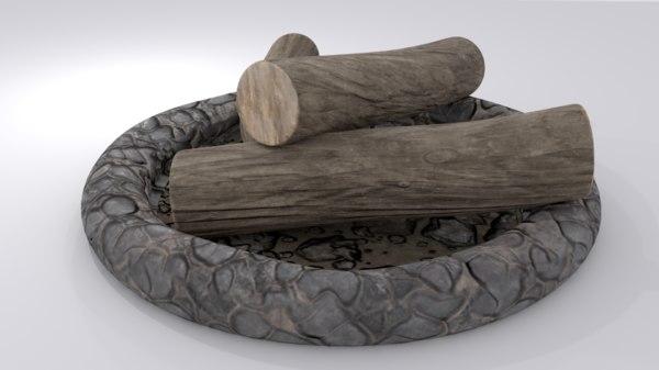 3D campfire model
