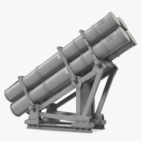 MK 141 Missile Launching System RGM 84 Harpoon SSM Navy 3D Model