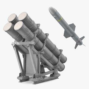 3D mk 141 missile launching