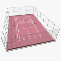 Outdoor Badminton Court 3D Model