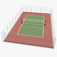 3D outdoor volleyball court ball
