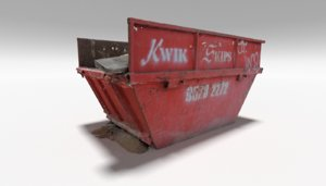 3D model skip bin rubbish