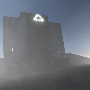 3D concepts horror building environment