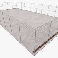 3D outdoor court model