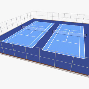 outdoor tennis court 3D model
