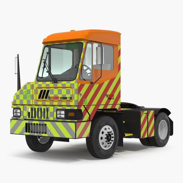 electric terminal truck kalmar 3D model