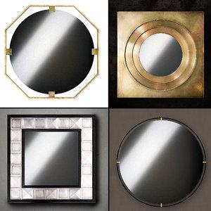 3D model mirrors set 06