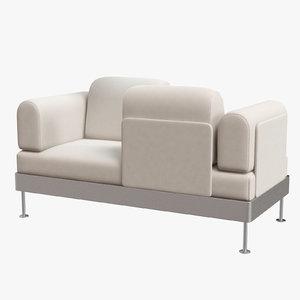 delaktig 2-seat sofa interior 3D