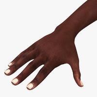 3D african female hand model