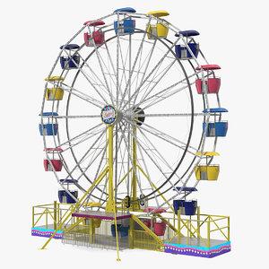 small town carnival ferris wheel 3D