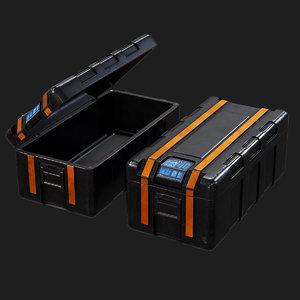 3D metallic case pbr ready