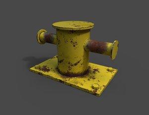 sea bollard 3D model