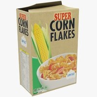 corn flakes pack 3D model