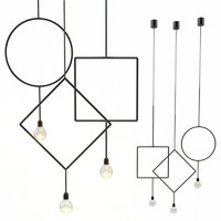 3D circle northern lighting pendant lamp