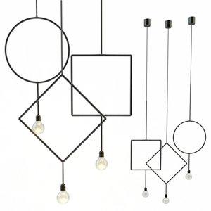 3D circle northern lighting pendant lamp