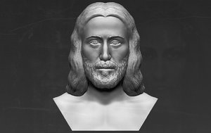 3D jesus christ ready printing model