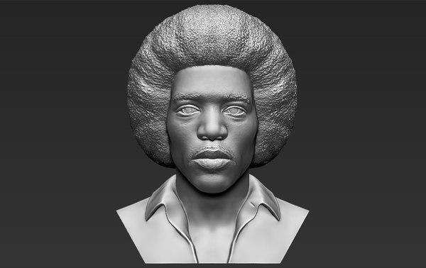 3D jimi hendrix bust ready model