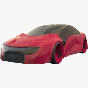 future car futuristic vehicle 3D