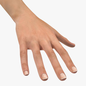 australoid female hand 3D model