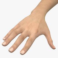 caucasian female hand model