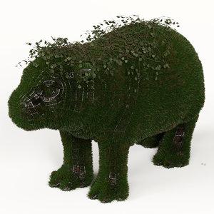 grass topiary 3D model