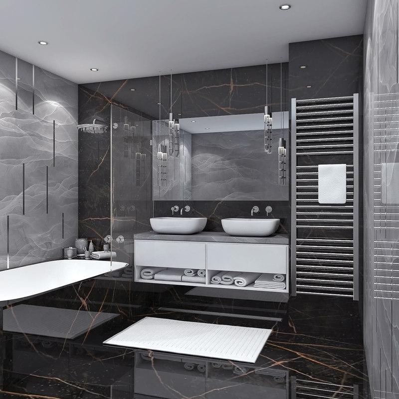 3D bath bathroom model