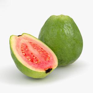 3D guava food fruit model