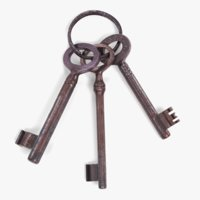 keys used pbr 3D model