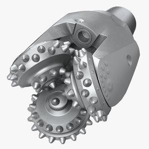 3D model mining drill bit