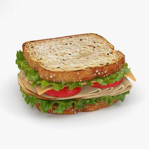 3D sandwich food