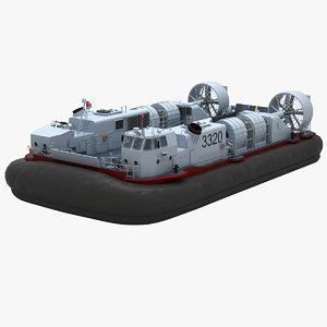 3D chinese type 726 lcac model