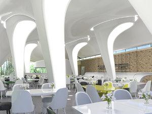 3D model serpentine gallery restaurant