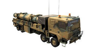 missile hyeonmu3 launch vehicle 3D model