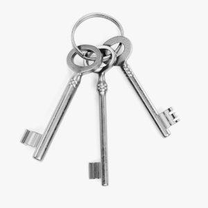 new keys 3D model