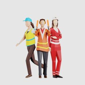 3D women people pack